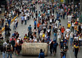 Las protestas en Venezuela de 2014, foto: ČTK