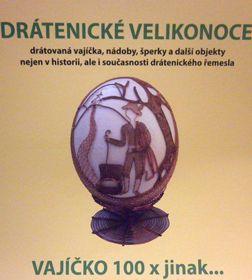 Drátovaný dráteník na pštrosím vejci od  Moniky Sochůrkové, foto: Zdeňka Kuchyňová