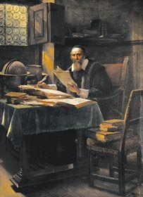 Jan Amos Komenský na obraze od Václava Brožíka, foto: Wikimedia Commons, Public Domain