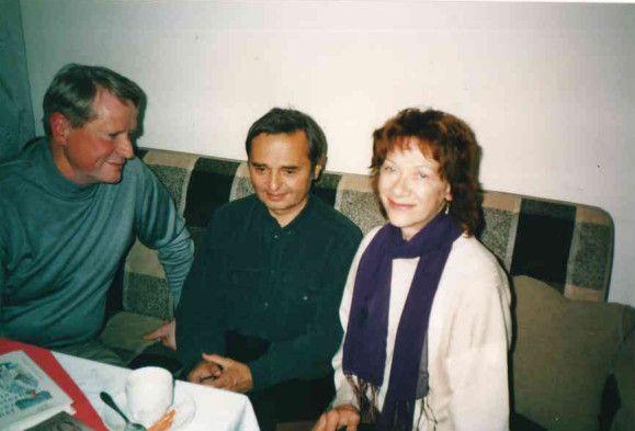 Сергей Андреев, переводчик Милан Дворжак и режиссер, фото: архив С.И.Андреева