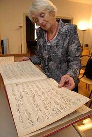 Eva Drlíková avec les compositions perdues de Leoš Janáček, photo: CTK
