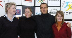 Atleti (zleva) Nikola Brejchová, Věra Cechlová, Roman Šebrle astřelkyně Kateřina Kůrková, foto: ČTK