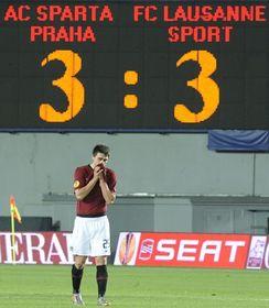 Le Sparta Prague a concédé à domicile le match nul (3-3) contre les Suisses du Lausanne Sport, photo: CTK