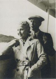 Ольга Шайнпфлюгова и Карел Чапек, фото: Archiv MZV ČR