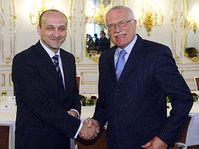 Le Premier ministre polonais avec le Président Vaclav Klaus, photo: CTK