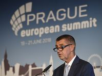 Andrej Babiš au Sommet européen de Prague, photo: ČTK
