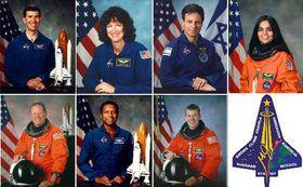 Les membres de l'équipage de la navette spatiale Columbia, photo: CTK