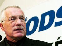 Líder del Partido Cívico Democrático, Vaclav Klaus, foto: CTK