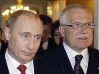 Russia's President Vladimir Putin with President Vaclav Klaus, photo: CTK