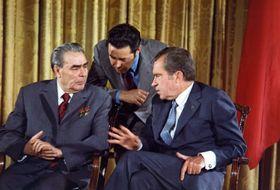 Leonid Brezhnev and Richard Nixon in 1973