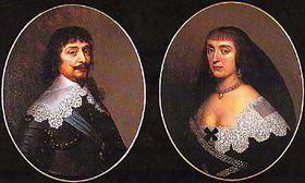 Federico del Palatinado y su esposa inglesa