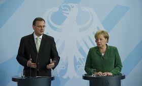 Petr Nečas aněmecká kancléřka Angela Merkelová, foto: ČTK