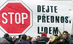 Demonstration against the energy plan, photo: CTK