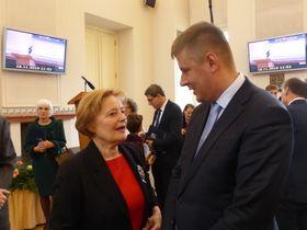 Magda Vášáryová aTomáš Petříček, foto: Klára Stejskalová