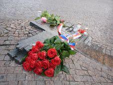 Место самосожжения Яна Палаха на Вацлавской площади Праги, фото: Эва Туречкова