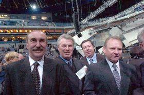 Hokejové legendy Jiří Holeček, František Pospíšil, František Kaberle aOldřich Machač (zleva), foto: ČTK