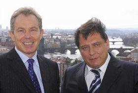 Jiri Paroubek and Tony Blair, photo: CTK