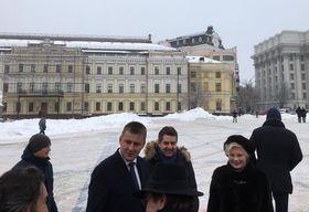 глава МИД Чехии Томаш Петршичек и посол Украины Евгений Перебийнис, фото: Катерина Айзпурвит