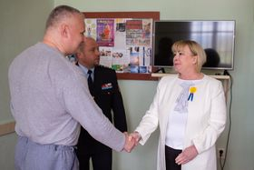 La esposa del presidente, Ivana Zemanová, se reunió con Kajínek hace poco. Foto: ČTK.