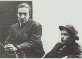 Ярослав Сейферт и Карел Тейге, фото: открытый источник