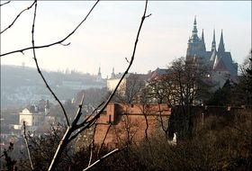 Panorama across the Vltava river