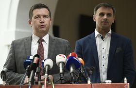 Jan Hamáček aJiří Zimola, foto: ČTK