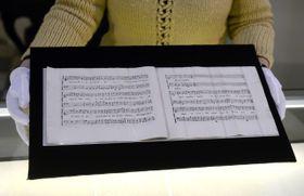 """Manuscrito de la composición """"Per la ricuperata salute di Ophelia"""", foto: ČTK"""