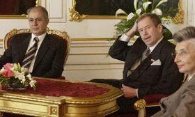 Ahmed Necdet Sezer y Vaclav Havel, foto: CTK