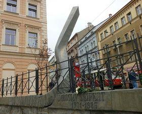 Памятник Ярославу Сейферту в Праге, в районе Жижков, фото: Екатерина Сташевская