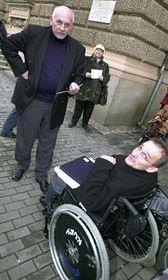 Padres de niños discapacitados protestaron en Brno, foto: CTK