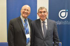 Oscar Arias Sánchez y Freddy Valverde, foto: Marta Guzmán