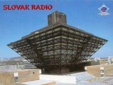 Здание «Радио Словакии» на карточке QSL