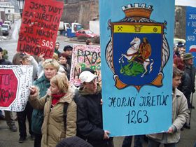 Demonstration against the energy plan