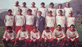 L'équipe de Tchécoslovaquie en 1980
