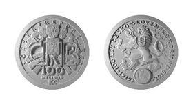 Zlatá 100 000 000 Kč mince ke 100 letům česko-slovenské koruny – technická příprava platidla, foto:  ČNB