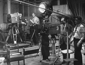 Uno de los primeros estudios de la televisión checoslovaca, foto: CTK