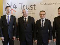 Péter Szijjártó, Witold Waszczykowski, Lubomír Zaorálek, Miroslav Lajčák, photo: CTK