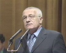 Vaclav Klaus was re-elected party chairman