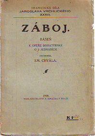 Vrchlického libreto Záboj