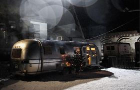 Снимок из цикла со съемок сериала «Цирк Буковского» (Фото: Дагмар Выгналкова, Чешское Телевидение)