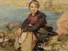 Alfons Mucha: Auf dem Ufer (Foto: Archiv der Nationalgalerie in Prag)
