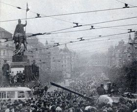 Wenceslas Square, August 1968