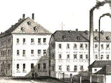 Fabrik Christian Geipel & Sohn 1906 (Foto: © Bibliothek, Museum und Informationszentrum Asch)