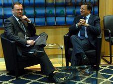 Petr Nečas (vlevo) a José Barroso, foto: ČTK