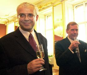 Vladimír Spidla y Václav Havel, foto: CTK