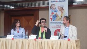 Kateřina Slámová Kubešová, Rolando Villazón y Lukáš Houdek, foto: Martina Schneibergová