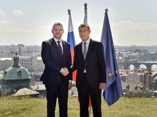 Peter Pellegrini, Andrej Babiš, photo: CTK