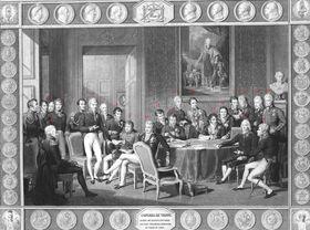 Le congrès de Vienne en 1815, source: CC BY-SA 3.0