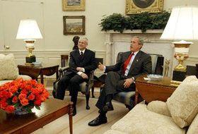 Vladimir Spidla y George Bush, foto: CTK