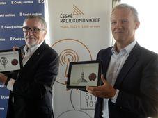 Peter Duhan, České Radiokomunikace's CEO Martin Gebauer, photo: CTK